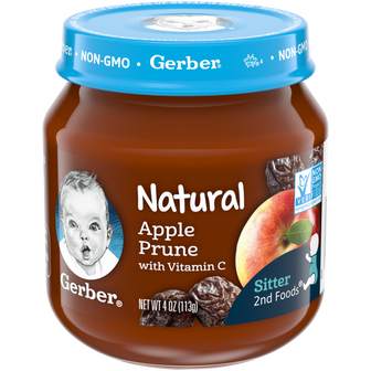Jar of Natural Apple Prune Baby Food