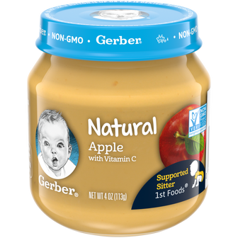 Jar of Natural Apple 1st Foods baby food