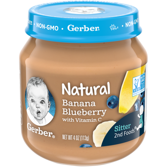 Jar of Banana Blueberry baby food