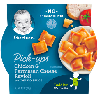 Package of Gerber Chicken and Parmesan Ravioli Pick-Ups