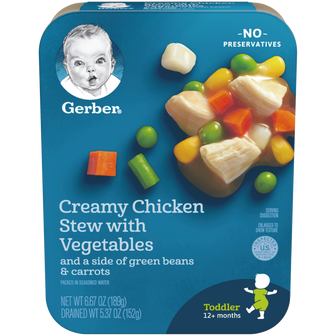 Package of Gerber Creamy Chicken Stew with Vegetables
