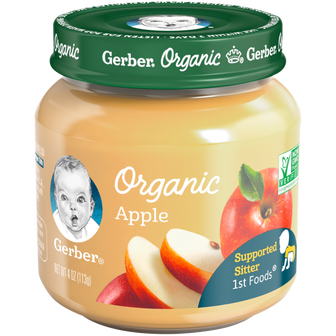 Jar of Organic Apple 1st Foods baby food