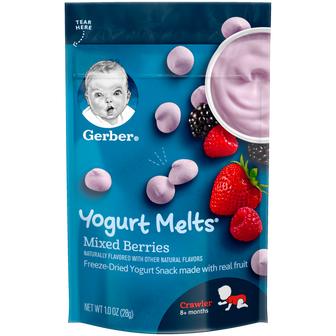Pouch of Mixed Berries Yogurt Melts