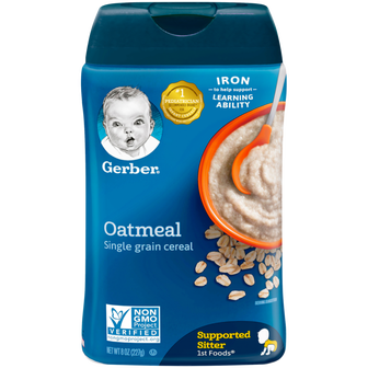 8oz Container of Gerber Single Grain Oatmeal