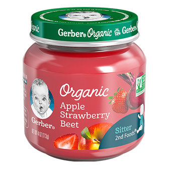Gerber Organic 2nd Foods Apple Strawberry Beet Baby Food