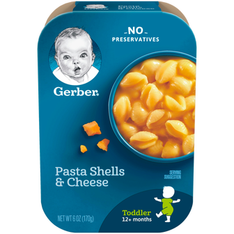 Package of Gerber Pasta Shells and Cheese