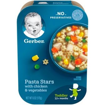 Package of Gerber Pasta Stars