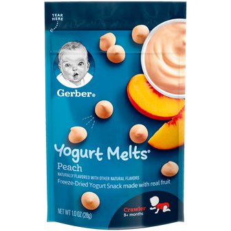 Pouch of Peach Yogurt Melts