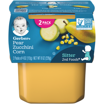 Tub of 2nd Foods Pear Zucchini Corn Baby Food