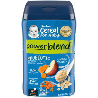 Gerber Probiotic Oatmeal, Lentil, Carrots & Apples