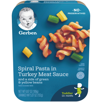 Package of Spiral Pasts in Turkey Meat Sauce