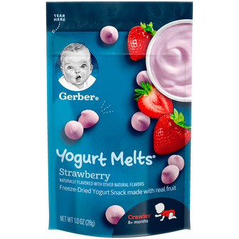 Pouch of Strawberry Yogurt Melts