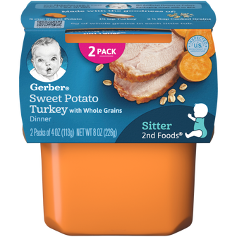 Gerber® 2nd Foods® Sweet Potato Turkey with Whole Grains Dinner